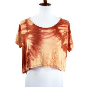 Rubbish Womens S Distressed Crop Top